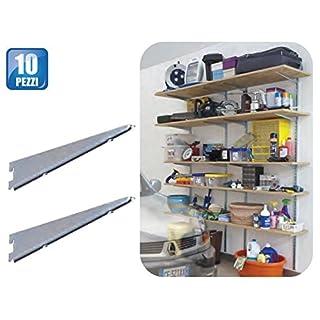 Shelf Brackets 3Hooks Art 2770cm 40ZINC PACK OF 10