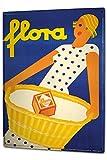 LEotiE SINCE 2004 Blechschild XXL Retro Waschmittel Frau Zeichnung Küchenmotiv