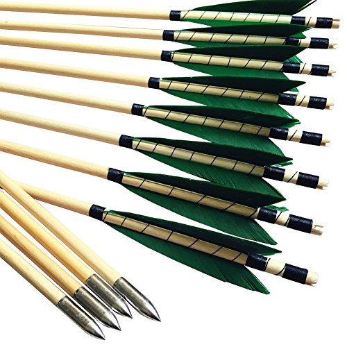 Holzpfeile pfeile für Bogen 5/16 bis 40 lbs pfeile für Compound Bogen Bogenschießen
