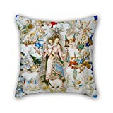 Oil Painting Luis Lagarto - The Virgin Of The Rosary With Saint Catherine Of Alexandria And Saint Catherine Of Sienna Pillowcase 20 X 20 Inches / 50 By 50 Cm For Adults Girls Chair Indoor Boy Frie