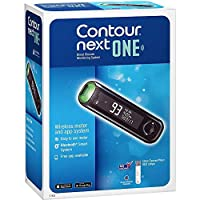Bayer Contour Next One Blood Glucose Monitor with 100 Test Strips
