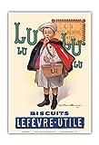 Lu Biscuits - Le Petit Ecolier - Lefèvre-Utile (LU) - Ancienne affiche publicite Vintage Poster by Firmin Bouisset c.1897 - Reproduction Professionelle d'art Master Art Print - 33cm in x 48cm...