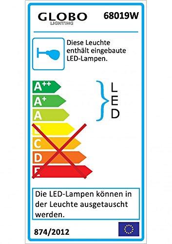 LED Wandleuchte 5W Beleuchtung Strahler Wandstrahler Wandspot Licht Globo 68019W - 3