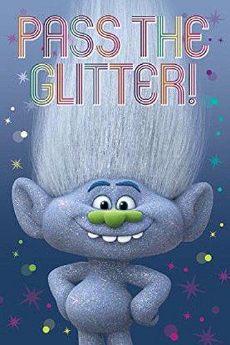 Trolls Poster Diamond Guy Pass the Glitter! (61cm x 91,5cm) + 1 Traumstrand Poster Insel Bora Bora zusätzlich