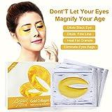 Goldene Augenmaske gegen falten und augenringe,anti aging Augenpads mit Feuchtigkeitsspendende Essenz,10paar