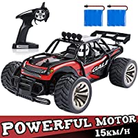 SGILE 1:16 Remote Control Racing Car - Play with Friends - 2.4Ghz 15KM/H RC Crawler Drifting Truck for Teens, Red