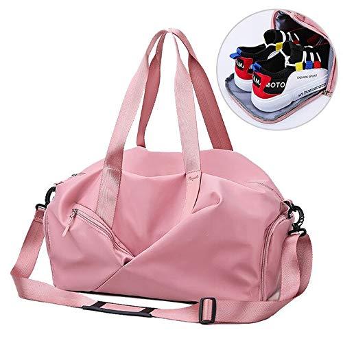 Unisex Yoga Matte Fitness Gym Taschen Trockene nasse Tasche Sport Handtaschen für Frauen Reisetraining wasserdichte Gymtas Pool 29x45x25cm rosa - 25 X 45 Pool