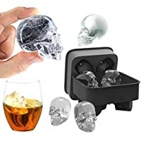 Sansee Skull Shape 3D Ice Cube Mold Maker Bar Party Silicone Trays Chocolate Mold