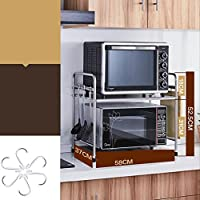 Muebles de cocina Cocina de acero inoxidable Horno de microondas Estante Estante para horno Estante incorporado