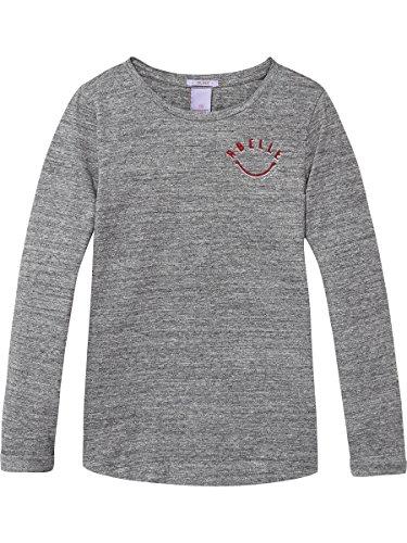 Scotch & Soda R'Belle Mädchen Long Sleeve Motif T-Shirt, Grau (Antra Melange 608), 140 (Herstellergröße: 10) (Kollektion Sleeve Tee Long)