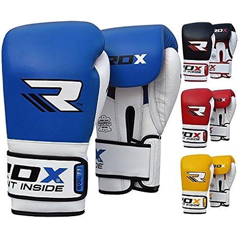 RDX Vacuno Cuero Guantes Boxeo Saco Sparring Entrenamiento Mitones Muay Thai Kick Boxing