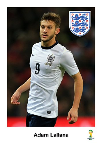 Adam Lallana - England Footballer - World Cup 2014 - Brazil - A3 Poster - Print - Picture