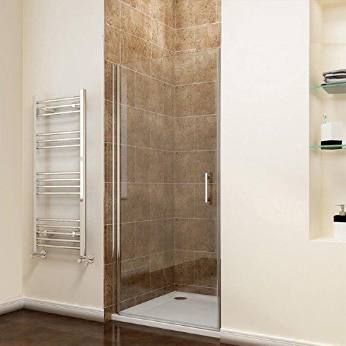 Rahmenlose Duschtür aus Klarglas