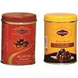 Skylofts Chocolate Covered Nuts ( Nut Butterscotch, Almonds Nutties) Tin Pack - 200gms