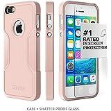 iPhone se, para iPhone 5S 5 se (Rose Gold) saharacase® - Kit incluido con [zerodamage Protector de pantalla de cristal templado] Slim Fit resistente carcasa de protección antigolpes carcasa rígida