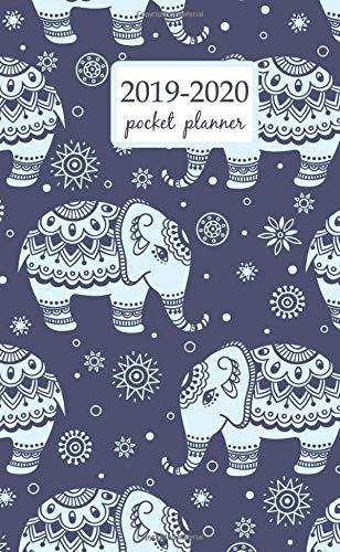 2019-2020 Pocket Planner: 2 Year Pocket Monthly Calenda Planner  Schedule Organizer Appointment Journal Notebook 4 x 6.5 inch elephant and flower - floral design (2 Year Pocket Monthly planners) 6.5 Chaos