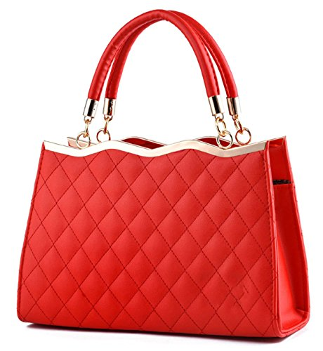 Elegante Fashion Bowknot Tote Ladies ' Red