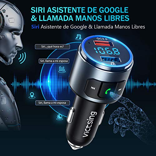 Mini Transmisor Bluetooth Manos Libres con Siri Asistente