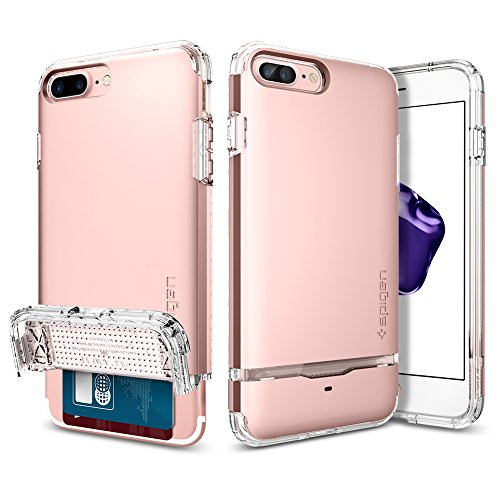 Spigen iPhone 7 Plus Case Flip Armor 5.5 Cover Oro rosa FA_Rose Gold