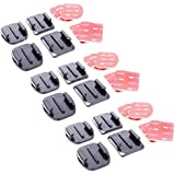 Yantralay Gopro Helmet Adhesive Mount 12 Pieces (6Flat & 6Curved) with 12 Pieces 3m Sticker Set for GoPro|SJCAM|Yi|EKEN & Other Action Cameras