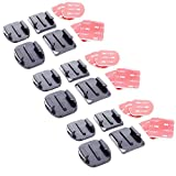 #6: YANTRALAY SCHOOL OF GADGETS Gopro Helmet Adhesive Mount 12 Pieces (6Flat & 6Curved) with 12 Pieces 3m Sticker Set for GoPro|SJCAM|Yi|EKEN