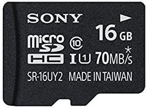 Sony 16GB Class 10 UHS-1 Micro SDHC up to 70MB/s Memory Card (SR16UY2A/TQ)