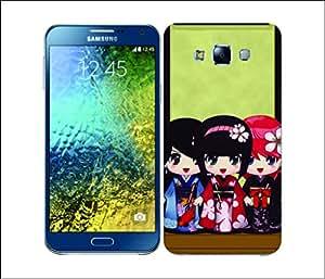 Galaxy Printed 2228 Kimono Girls Hard Cover for Samsung E5
