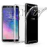 EIISSION Case Kompatibel mit Samsung Galaxy J6 Hülle, J6 2018 Handyhülle Transparent Schutzhülle Kratzfest Silikon Schlank Weich Dünn Durchsichtige TPU Cover für Samsung Galaxy J6 2018,Transparent