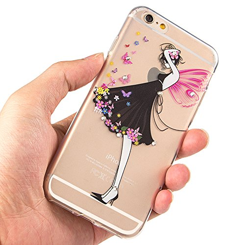iPhone 7 Hülle Silikon,iPhone 7 Hülle Glitzer,iPhone 7 Crystal TPU Bumper Case Soft Transparent Silikon Gel Schutzhülle Cover,iPhone 7 Hülle (4.7 Zoll) Cristall,EMAXELERS iPhone 7 Bling Cristall Diama TPU 56