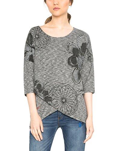 Desigual Damen T-Shirt TS_OLIVIA, Grau (Gris Vigore Claro 2042), Medium