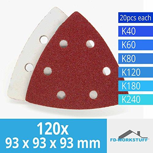 100 Schleifscheiben 150 mm mit Klett 6Loch in feinen verschiedenen K/örnungen