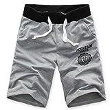 Culater® Uomini Pantaloni di Bicchierini Palestra di Sport da Jogging Casuale Pantaloni (Grigio, L)