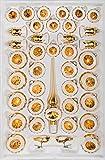 '39piezas Cristal Juego de bolas de navidad en 'brillante vintage Oro-Bolas de...
