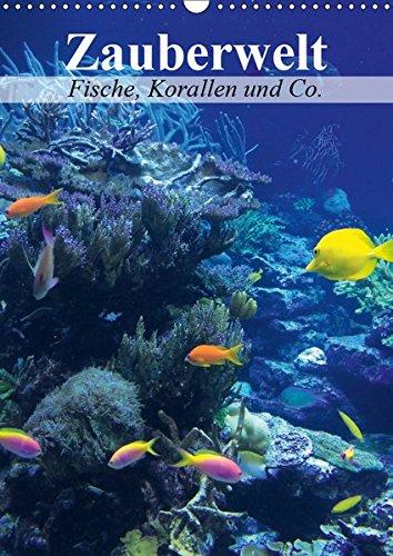 Zauberwelt. Fische, Korallen und Co. (Wandkalender 2019 DIN A3 hoch): Ein Unterwasser-Planer für bunte Monate (Planer, 14 Seiten ) (CALVENDO Tiere)