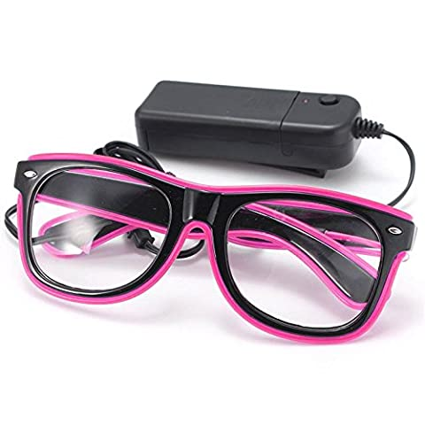 SOLMORE EL Wire Drahtbrille Leuchten Brille LED Leucht Sonnenbrille Partybrille