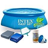 Global Pool Set mit Zubehör Gartenpool 244 x 76 cm Quick Up Pool INTEX 28110