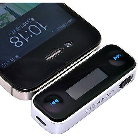 MP power @ inalámbrica de 3,5 mm para el auto Pantalla LCD Adaptador Radio FM Transmisor + cargador de coche para el iPhone de Apple iPhone 6 Plus 6 5S 5C 5 4S 4 iPod Touch Samsung Galaxy Note 2 II 3 III S5 S4 SIV S3 SIII Reproductores Mp3 Mp4 y con dispositivos de 3,5 mm