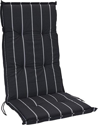 Hochlehner Stuhlauflage Gartenstuhl Hochlenerauflage 120cm x 50cm x 5cm Stuhlkissen Sitzkissen