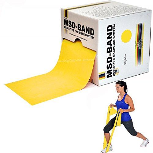 Msd fascia elastica gialla rotolo 45,50 mt leggera resistive band pilates yoga
