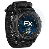 atFoliX Schutzfolie kompatibel mit Garmin Tactix Bravo Panzerfolie, ultraklare & stoßdämpfende FX Folie (3X)