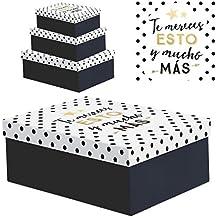 Juego 3 cajas regalo diseño frases