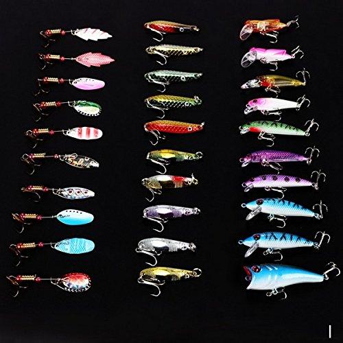 Leeko 30 tlg. Angelköder Wobbler Simulation von Fische und Insekten Kunstköder für Robfisch