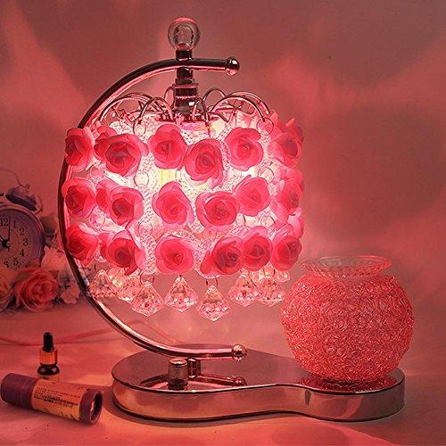 FWEF matrimonio tavolo lampada/la Luna Rosa comodino curvo matrimonio fragranza Lampade da tavolo Lampade/metallo/camera da letto (alta 30cm. larghezza 23cm) .