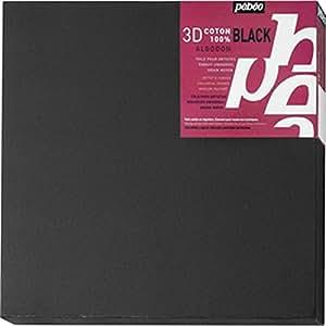 Pébéo 782752 Peinture 1 Châssis 3D Coton Noir