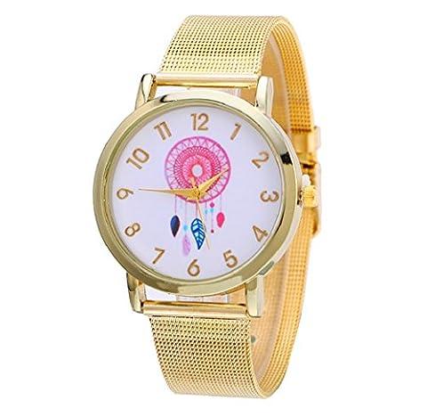 Tongshi Neue Mode Frauen Design Traumfänger Muster Gold Uhren Dial
