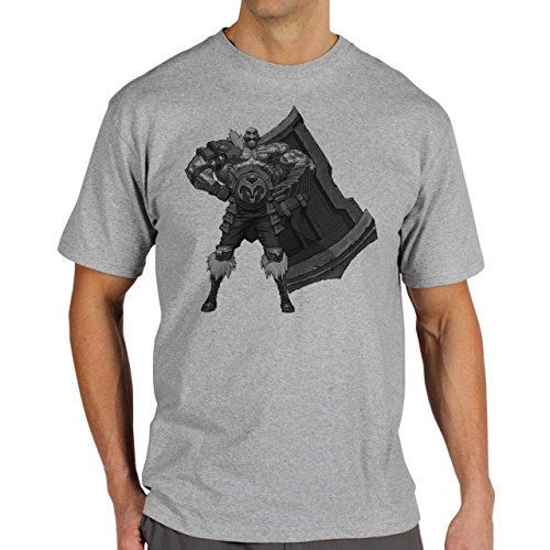 League Of Legends Fans Art Barum's Herren T-Shirt Grau