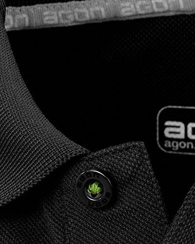 agon® Premium Herren Hybrid-Pique-Polo Anthrazit-Schwarz