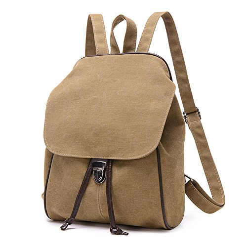 La sig.ra dual borsa a tracolla elegante e semplice colore solido zaino in tela per il tempo libero spalle pacchetto studenti schoolbags retrò pacchetti viaggio,A A