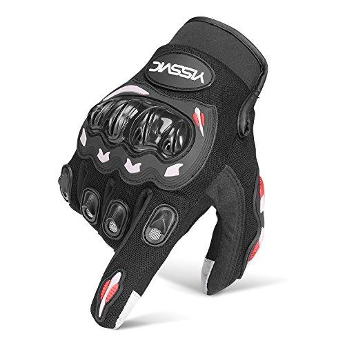 YISSVIC Motorrad Handschuhe Motorradhandschuhe Touchscreen Sport Handschuhe für Motorrad Radfahren Camping Outdoor (Antwort Handschuhe)