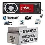 Mitsubishi Space Star - Autoradio Radio Caliber RDD773BT - Bluetooth | DVD/CD | MP3 | USB | SD | TFT - Einbauzubehör - Einbauset